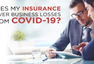 Does my insurance cover business losses from Covid-19?